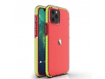 "Spring Case TPU pouzdro pro Apple iPhone 12 Mini (5,4"") clear / yellow"