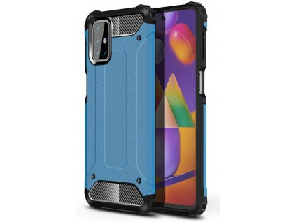 Hybrid Armor Case odolné pouzdro pro Samsung Galaxy M31s modré