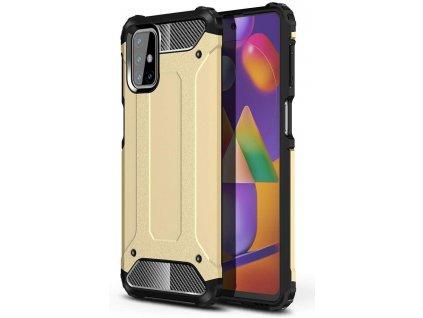 Hybrid Armor Case odolné pouzdro pro Samsung Galaxy M31s zlaté