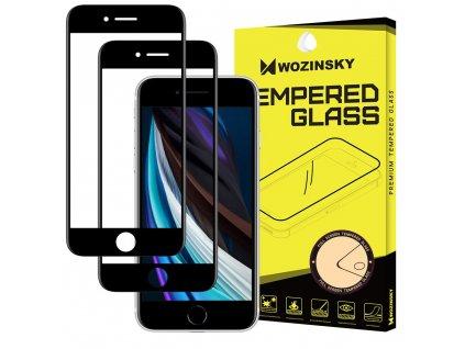 Wozinsky Full Glue 2x tvrzené sklo iPhone 7 / 8 / SE 2020 Case friendly, černé