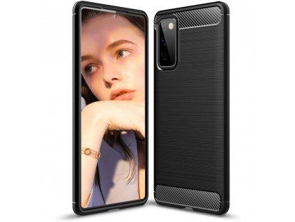 Pouzdro Carbon Case pro Samsung Galaxy S20 FE / S20 Lite / S20 FE 5G černé