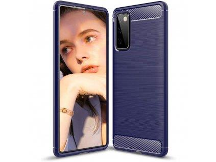 Pouzdro Carbon Case pro Samsung Galaxy S20 FE / S20 Lite / S20 FE 5G modré
