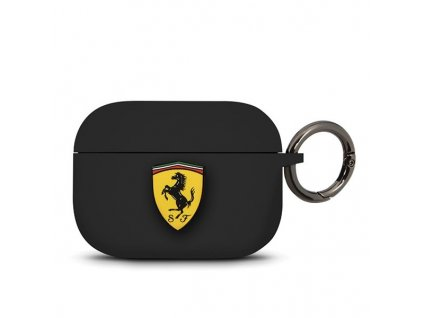 Ferrari silikonové pouzdro pro Apple AirPods PRO černé FEACAPSILGLBK