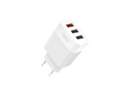 XO L72 nabíječka s výstupem 3x USB / QC 3.0 + 2x 2,1A bílá