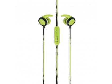 SETTY SPORT stereo headset sluchátka 3,5mm jack zelené