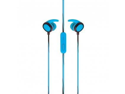 SETTY SPORT stereo headset sluchátka 3,5mm jack modré