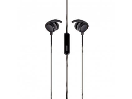 SETTY SPORT stereo headset sluchátka 3,5mm jack černé