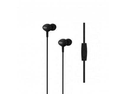 XO S6 handsfree sluchátka s kabelem a mikrofonem 3,5mm jack - černé