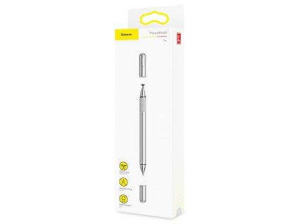 Baseus ACPCL-0S kapacitní stylus + propiska 2v1 stříbrný