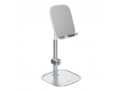 Baseus SUWY-A0S stolní držák na tablet / mobilní telefon stříbrný