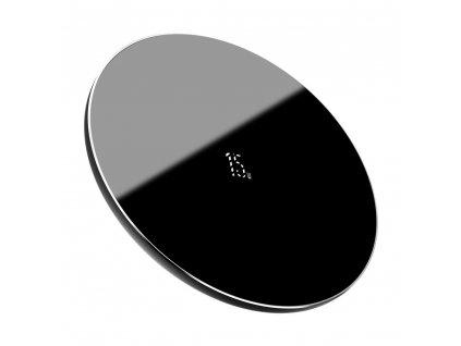 Baseus Simple bezdrátová nabíječka Qi / 15W + kabel USB - USB-C černá WXJK-B01