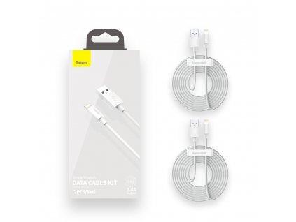 Baseus TZCALZJ-02 2x USB kabel pro iPhone Lightning 1,5m / 2,4A bílý
