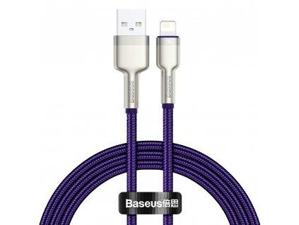 Baseus Cafule Metal USB kabel - iPhone Lightning / 2m / 2,4A fialový CALJK-B05