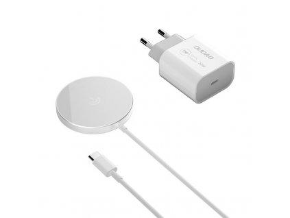 Dudao A12XS bezdrátová nabíječka 15W + 20W síťová nabíječka (kompatibilita MagSafe)