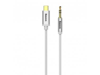 Baseus M01 Aux kabel - USB-C / 3,5mm jack / 1,2m bílý CAM01-02