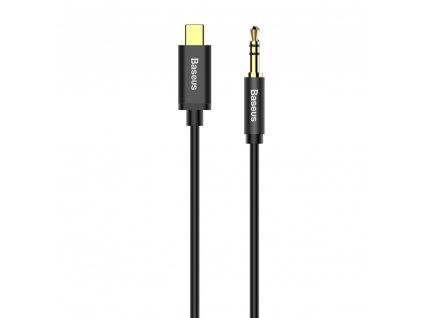 Baseus M01 Aux kabel - USB-C / 3,5mm jack / 1,2m černý CAM01-01