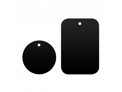 OEM 2x náhradní magnetická destička k držákům černá / steel