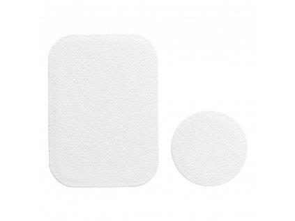 OEM 2x náhradní magnetická destička k držákům bílá / PU leather