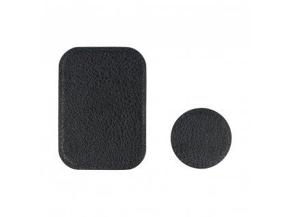 OEM 2x náhradní magnetická destička k držákům černá / PU leather