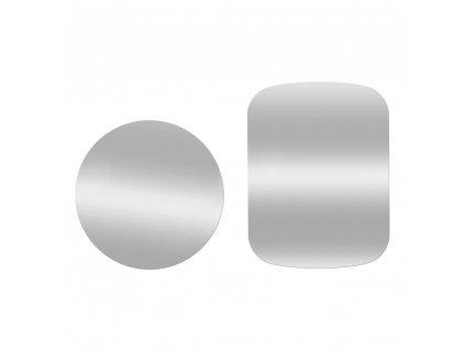 OEM 2x náhradní magnetická destička k držákům stříbrná / steel