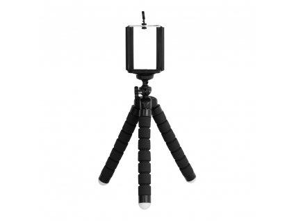 Univerzální mini stativ / tripod pro mobilní telefony černý