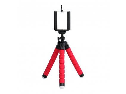 Univerzální mini stativ / tripod pro mobilní telefony červený
