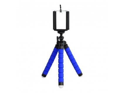 Univerzální mini stativ / tripod pro mobilní telefony modrý