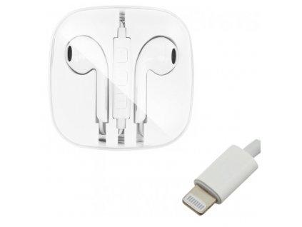 OEM sluchátka s ovládáním EarPods pro iPhone 7 / 8 / X / Xs / Lightning konektor