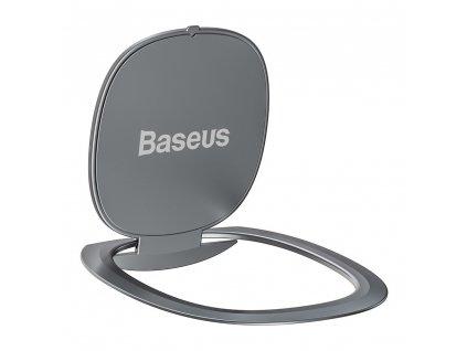 Baseus Ultrathin iRing 3v1 držák na prst / opěrka telefonu / protikus k držáku - stříbrný