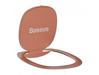 Baseus Ultrathin iRing 3v1 držák na prst / opěrka telefonu / protikus k držáku - červený