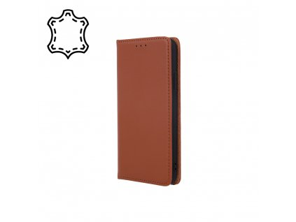 Pouzdro Smart PRO, kožené Samsung Galaxy A02S hnědé
