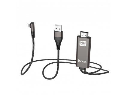 HOCO UA14 adaptér HDMI + USB / Apple Lightning / 2m