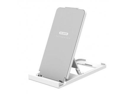WK Design držák / stojánek na tablet / mobilní telefon bílá / stříbrná