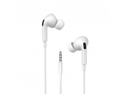WK Design Y31 stereo sluchátka s mikrofonem a ovladačem 3,5mm jack / bílé