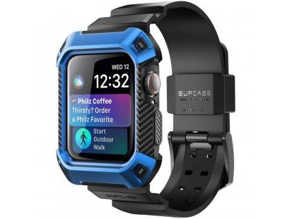 SupCase Unicorn Beetle pouzdro / kryt s řemínkem k Apple Watch 4/5/6/SE - 44mm modrý