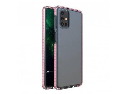 Spring Case TPU pouzdro pro Samsung Galaxy M31s clear / light pink