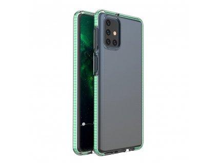 Spring Case TPU pouzdro pro Samsung Galaxy M31s clear / mint