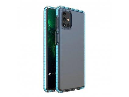 Spring Case TPU pouzdro pro Samsung Galaxy M31s clear / light blue