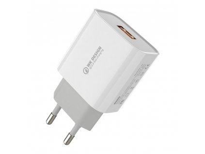 WK Design WP-U57 nabíječka s výstupem USB / QC 3.0 / 2,4A bílá