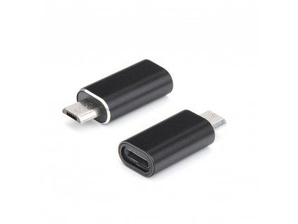 OEM adaptér Apple Lightning - Micro USB černý