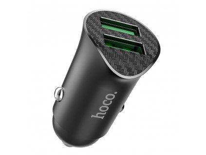 HOCO Z39 nabíječka do auta 2x USB / QC 3.0 / 18W - černá