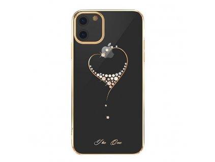 Kingxbar Wish Series s originál Swarowski krystaly pro iPhone 11 zlaté