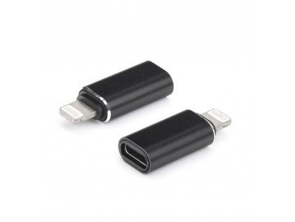 OEM adaptér USB-C na iPhone Lightning černý