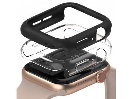 Ringke Slim Watch Case (2ks) pouzdro / kryt k Apple Watch 4/5/6/SE 44mm clear + černá
