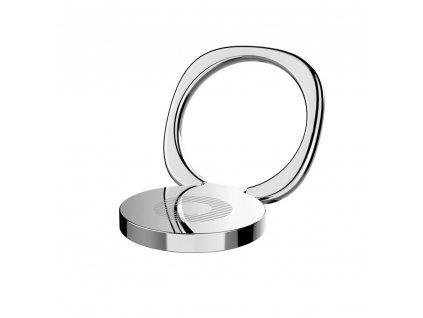 Baseus Privity iRing držák na prst / opěrka telefonu - stříbrný
