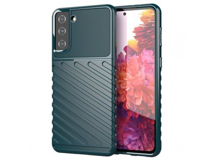 Pouzdro Thunder Case pro Samsung G991 Galaxy S21 (5G) zelené