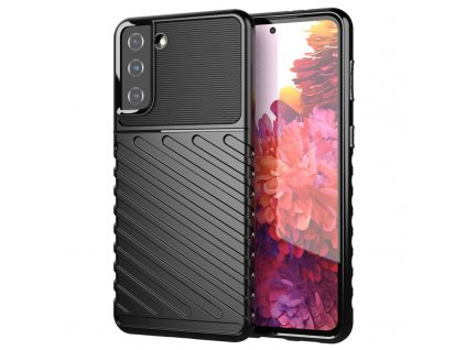 Pouzdro Thunder Case pro Samsung G991 Galaxy S21 (5G) černé