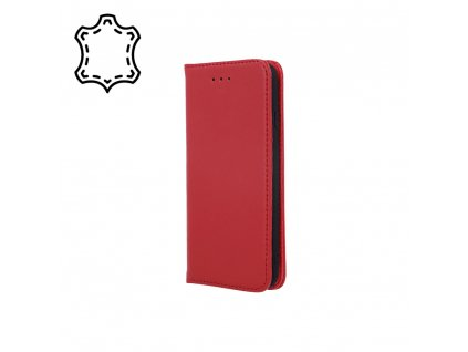 Pouzdro Smart PRO, kožené Xiaomi RedMi NOTE 10 / RedMi NOTE 10S červené