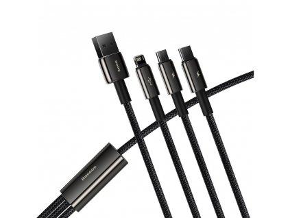 Baseus CAMLTWJ-01 USB kabel 3v1 Micro USB / USB-C / Apple Lightning 1,5m / 3,5A - tungsten