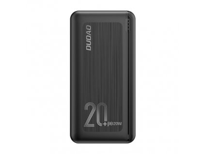 Dudao K12PQ+ PowerBanka 2xUSB + USB-C PD 20W / QC 3.0 20000mAh černá